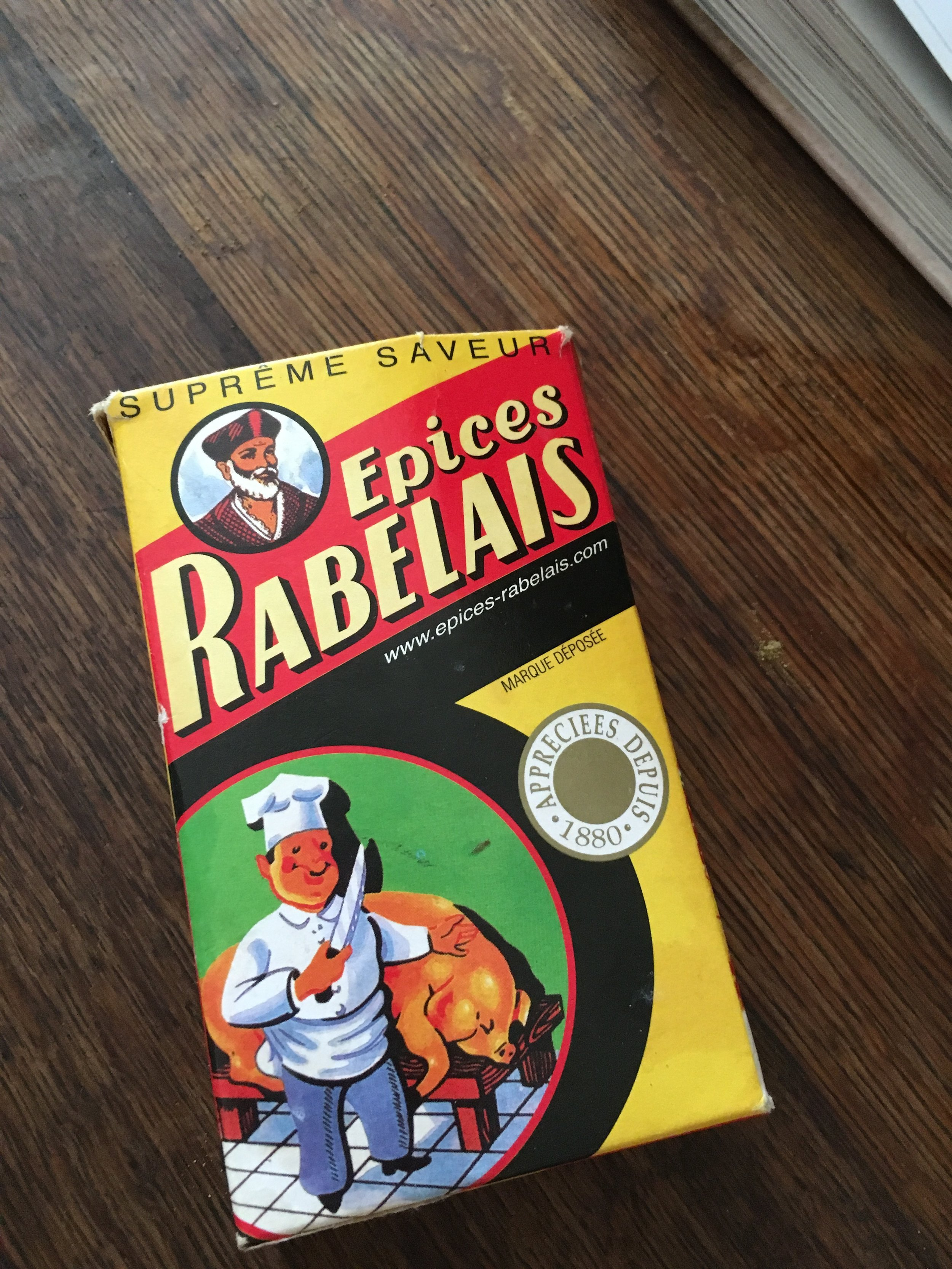 Epices Rabelais (Secret Spice) - It's not mentioned in the recipe but at the workshop we added it to most everything savory. I brought it back with me but you can purchase  here it's worth it ;)