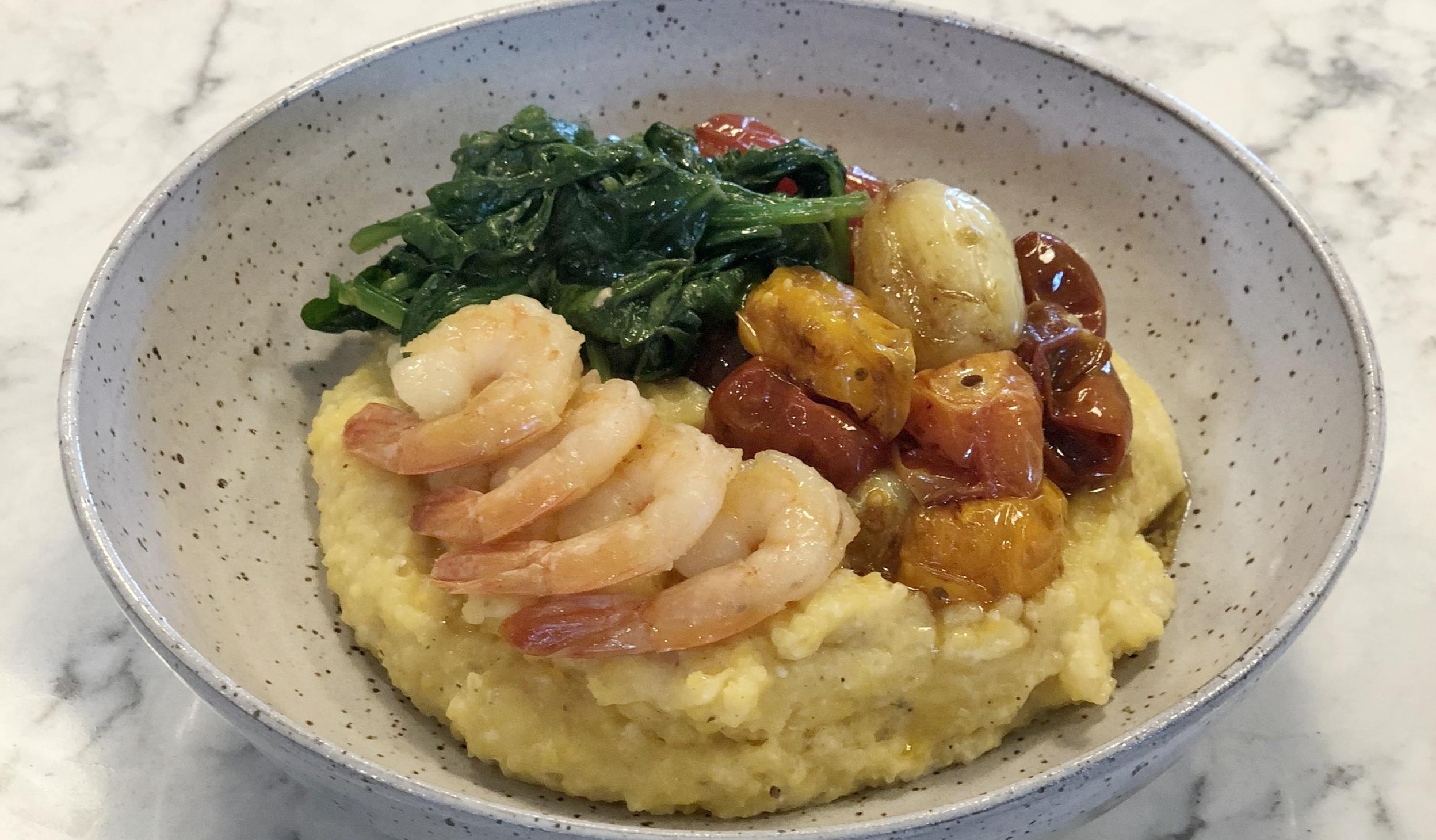 shrimp grits and polenta grits