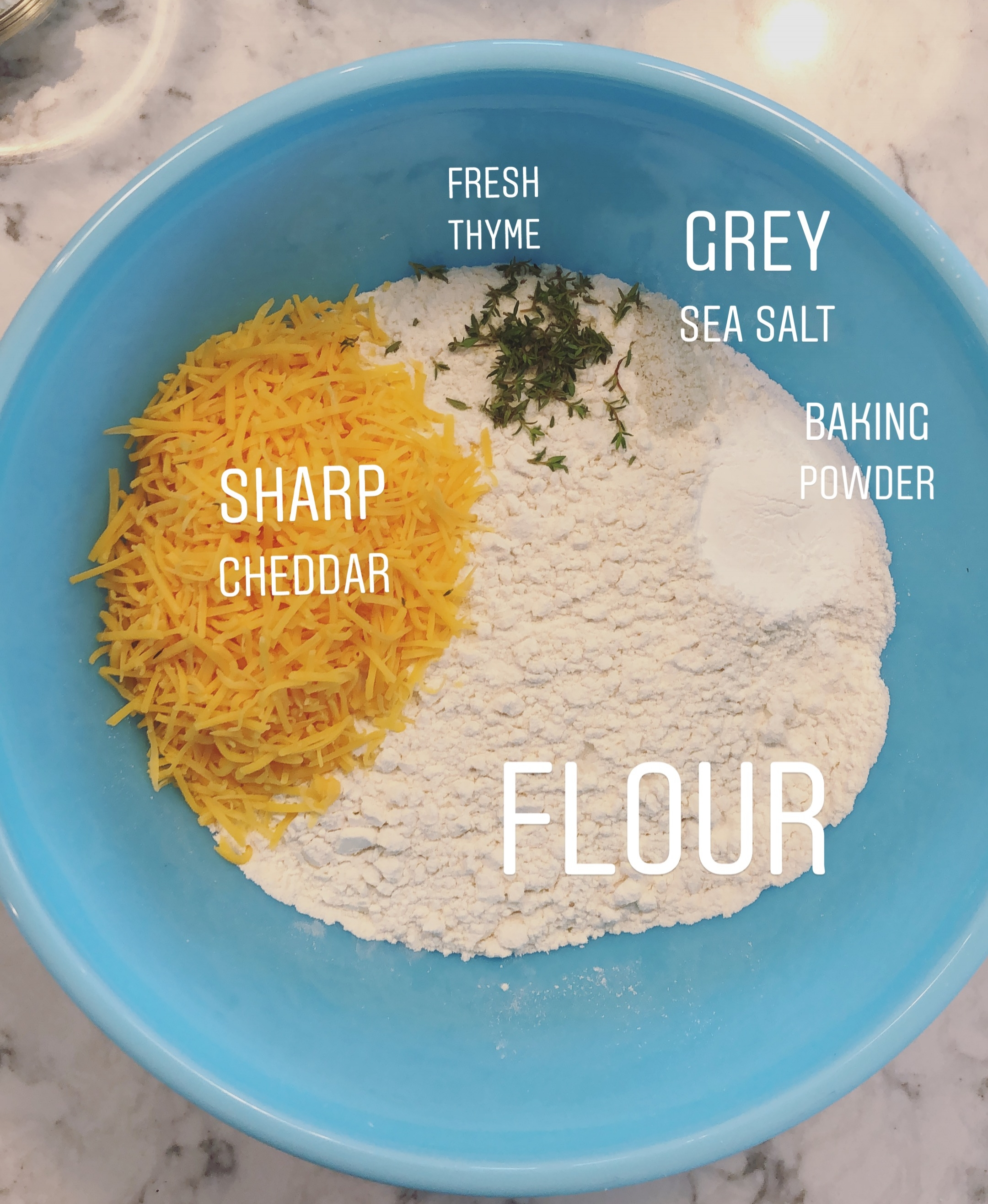 Mix dry ingredients until well combined.
