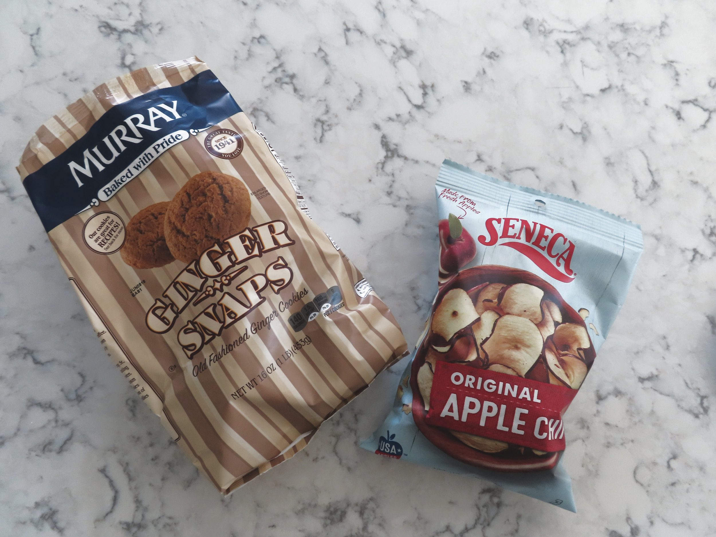 """My favorite """"snaps"""" and apple chips. I think it's worth it to splurge on a good ginger snap, they are typically more gingery. :)"""