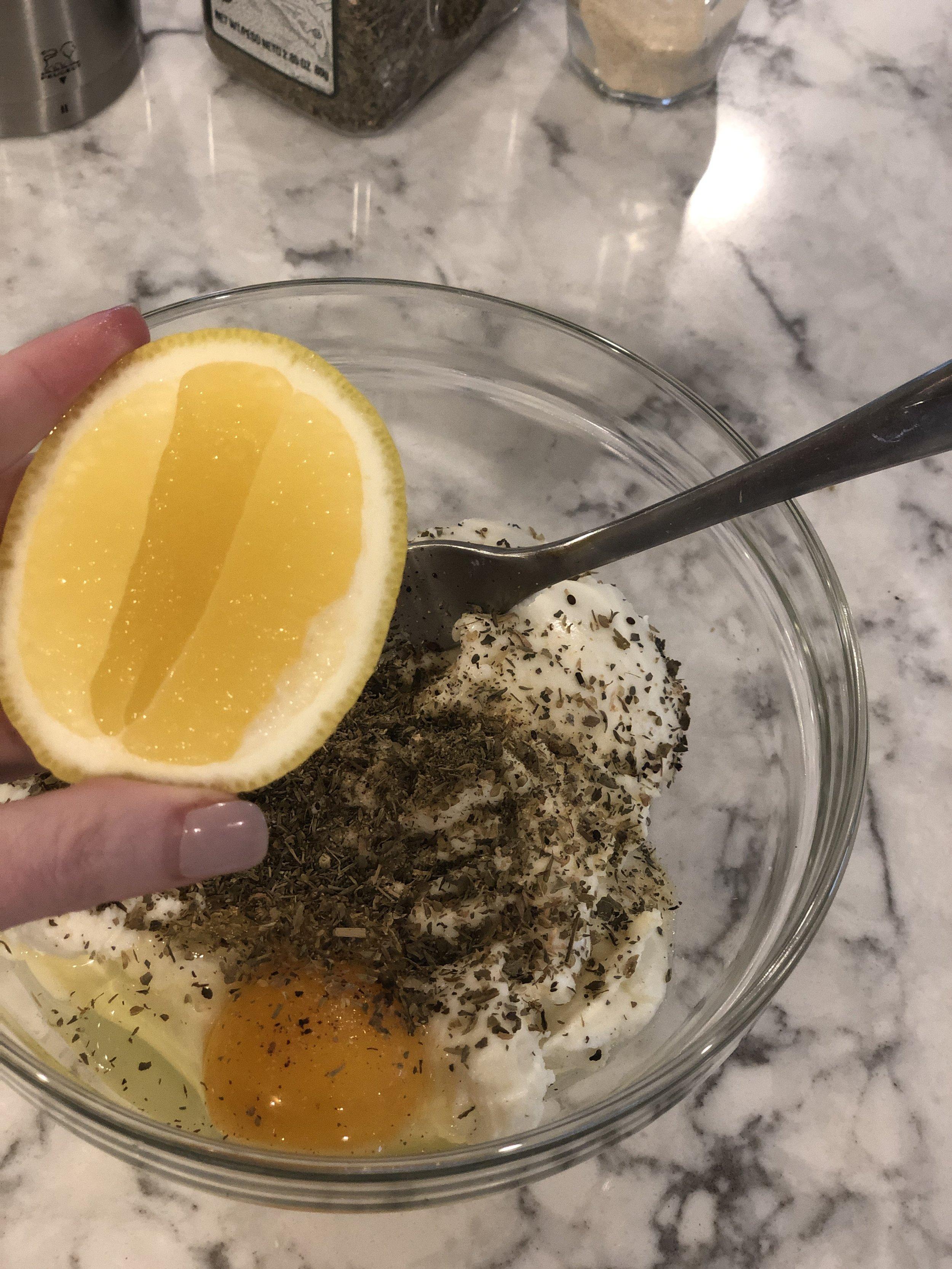 Secret ingredient to lighten up this dish? Lemon!