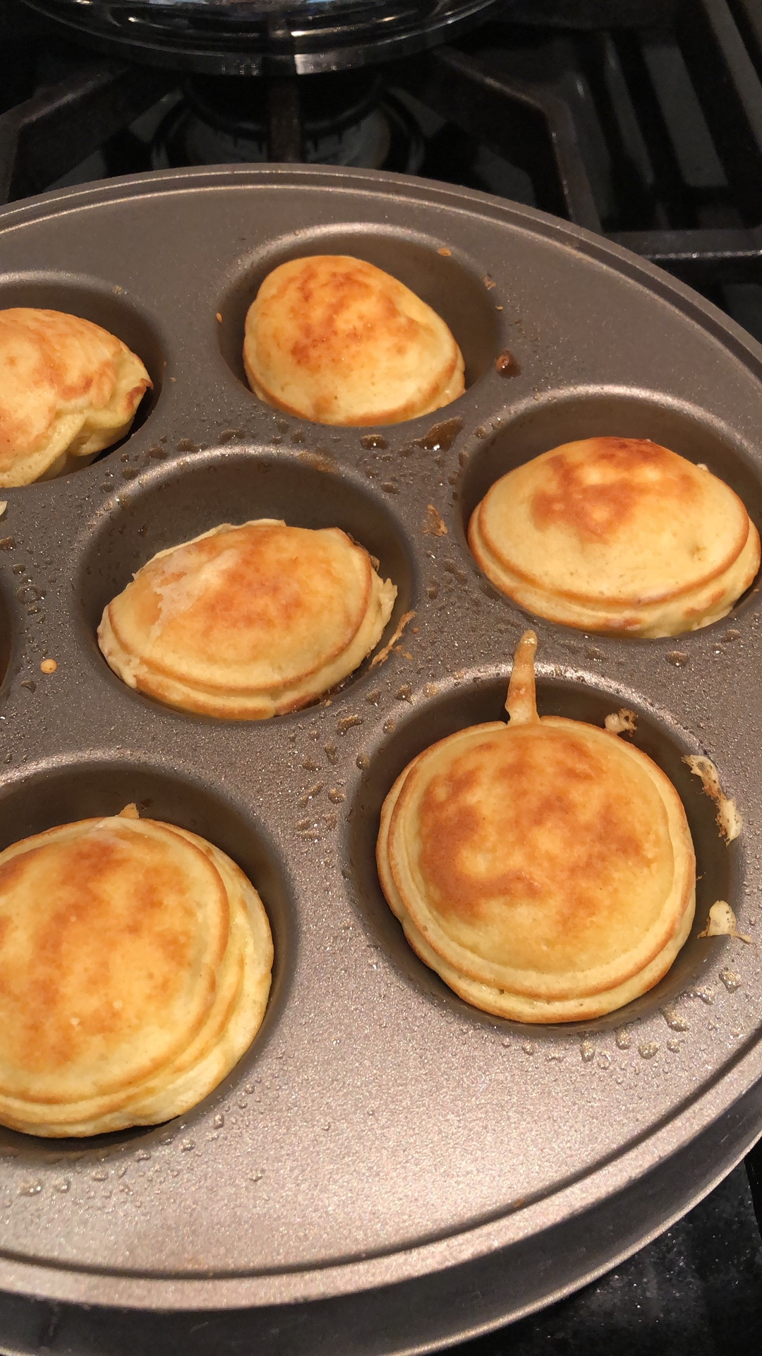 Once browned slightly, quickly flip and let cook for another 2-3 minutes. Serve immediately, these taste best hot!