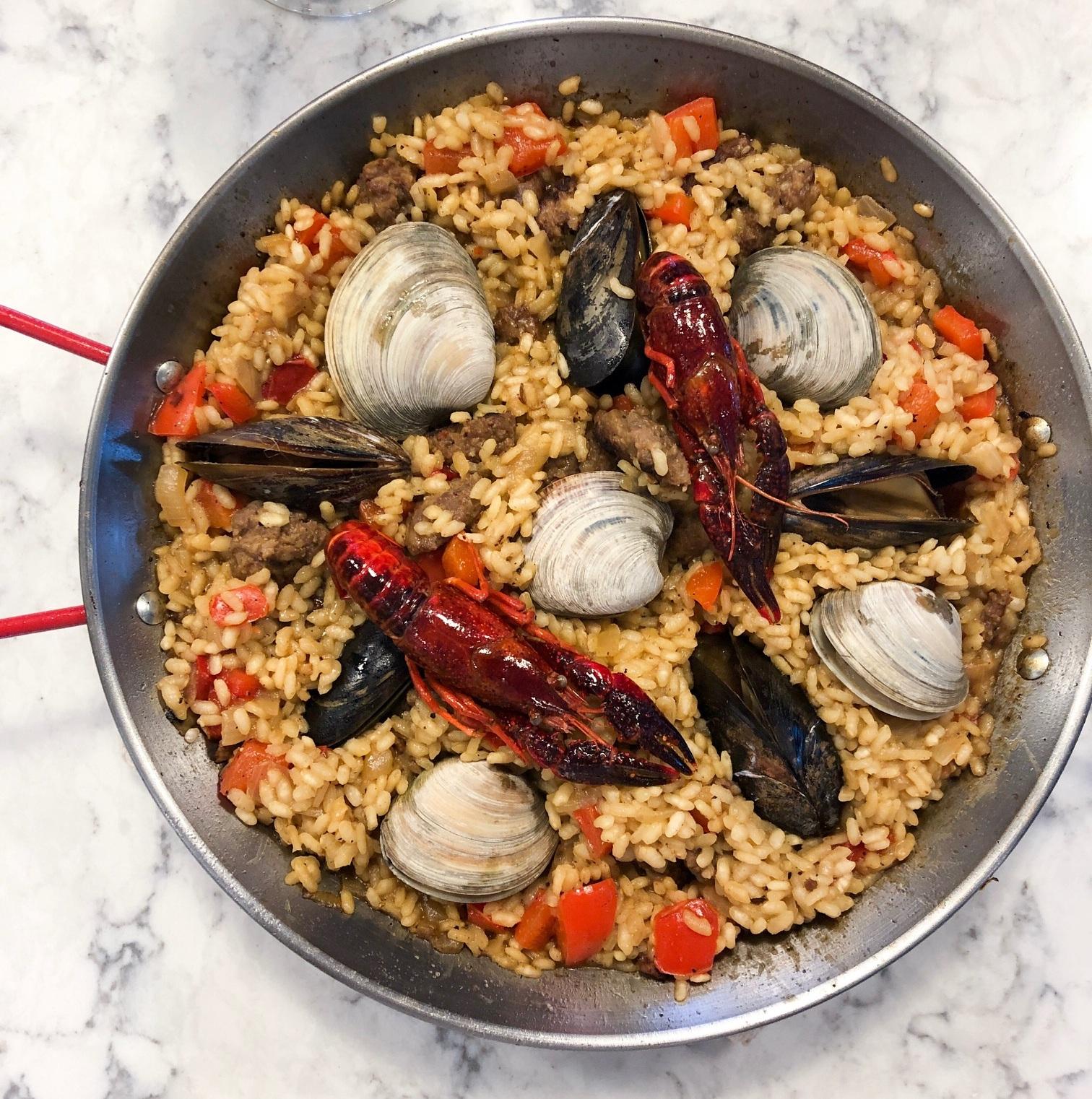 Chorizo+and+Seafood+Paella