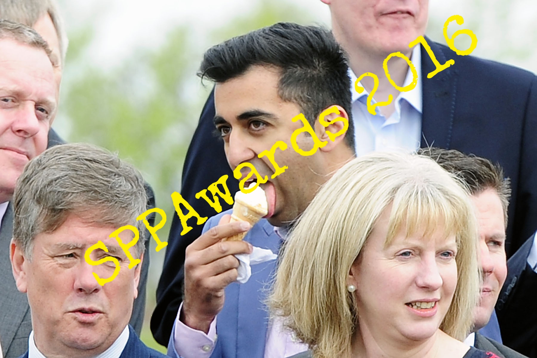 Politics MSP Humza Yousaf ice cream cone.jpg