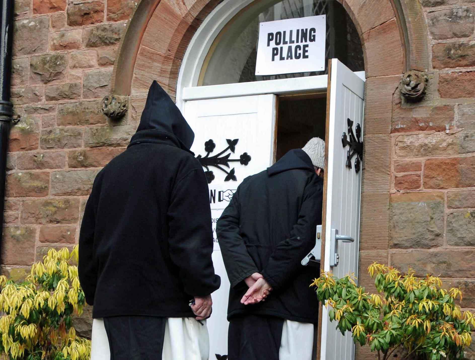 (20-20 Vision) Garvald Monks go to Vote.jpg