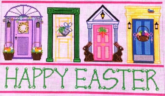 Easter Doors 14 x 8; Mesh 18; $200