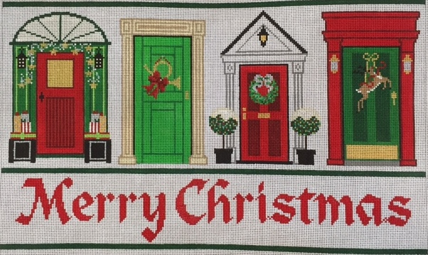 Christmas Doors 14 x 8; 18 Mesh; $200