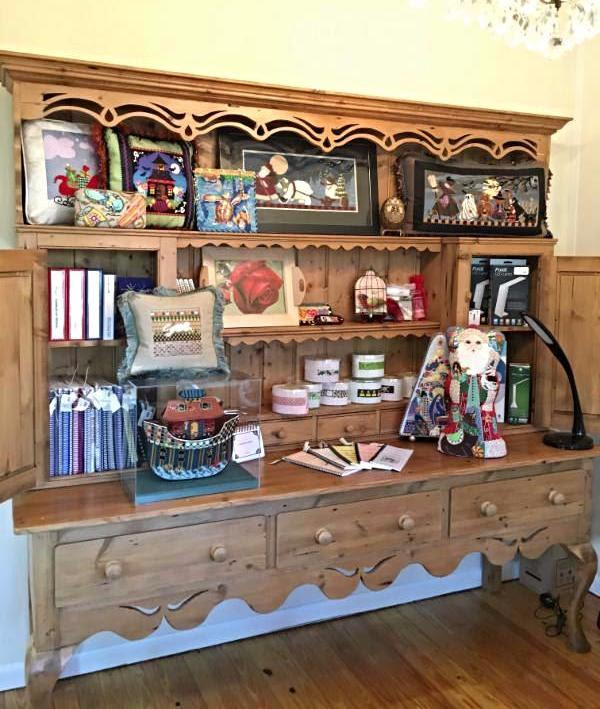 We have space to display our terrific finishing, loads of books and accessories.  Come see us on the island!