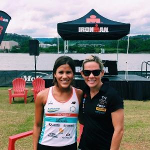 con Mirinda Carfrae (Campeona del Mundo en Ironman y Medio Ironman)