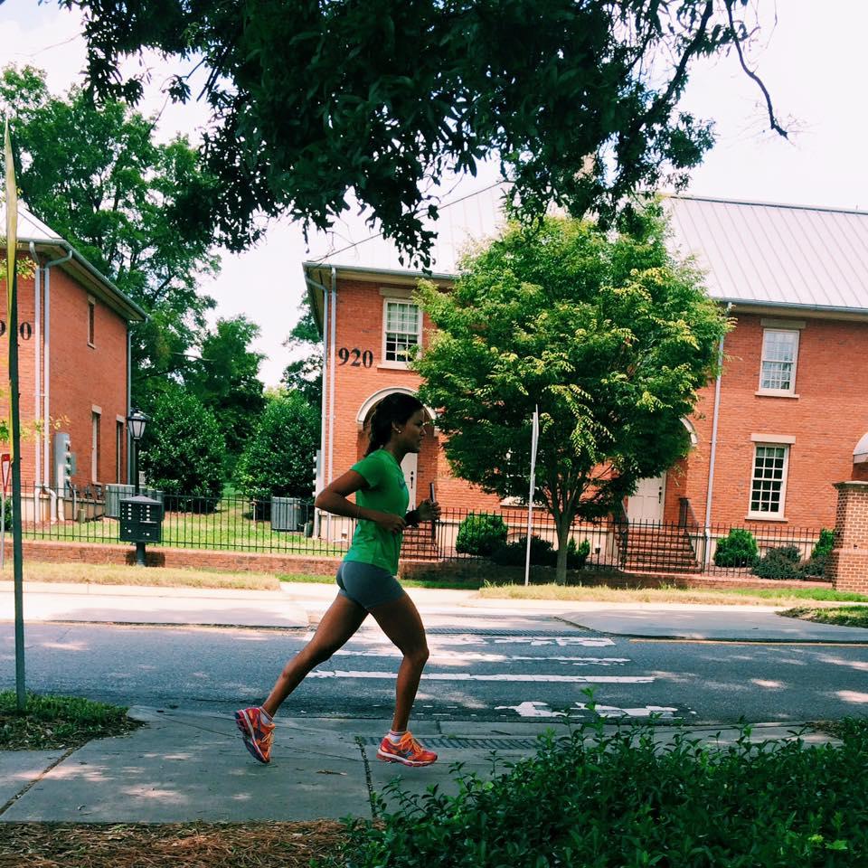 Corriendo por las calles de Raleigh