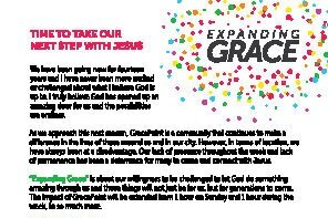 Expanding Grace Vision Brochure - Why is GracePoint seeking a home? find information here.