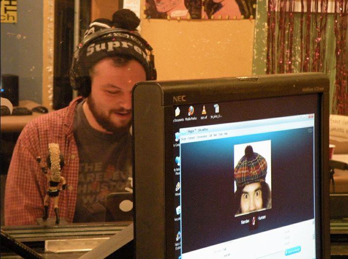 Getting the full Nardwuar treatment via Skype
