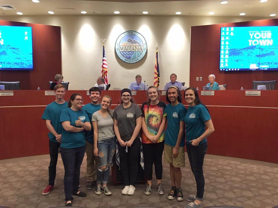 Pictured above: Will Klein, Heidi Barker, Jose Gonzalez, Hannah Stock, Taylor Nixon, Emma Winters, Jonathan Emmerick, Sarah Ross
