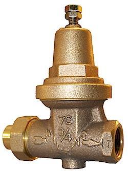 Pressure reducing valves help minimize water pressure
