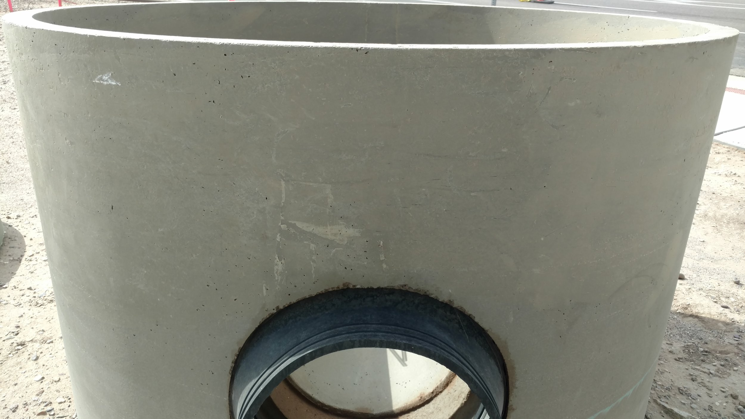 A manhole prior to installation