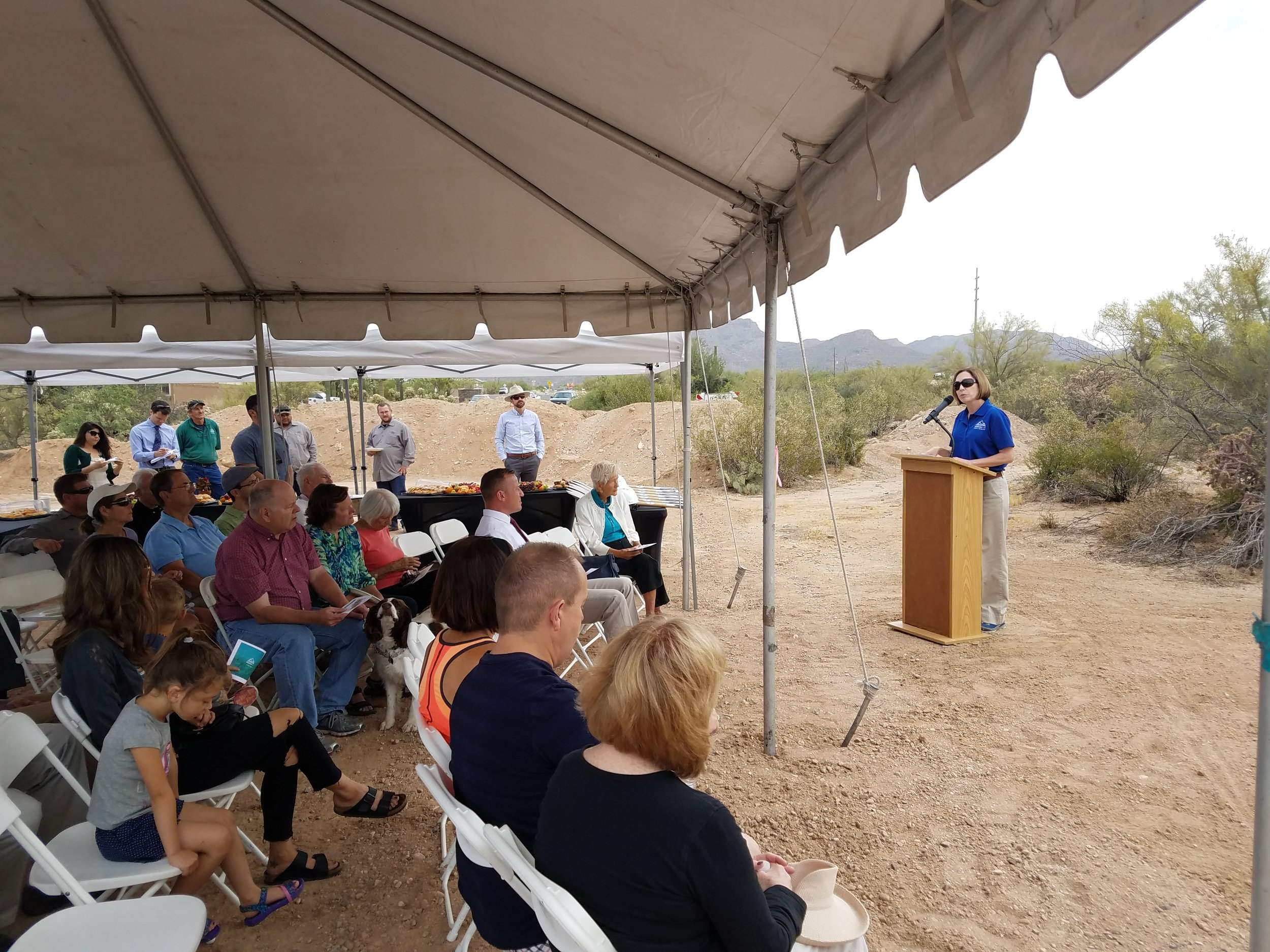 Parks and Recreation Director Cynthia Nemeth-Briehn describes the planning process for the new Tangerine Sky Park