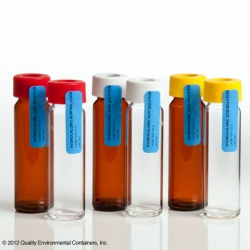 Example of bottles used to collect CCR samples