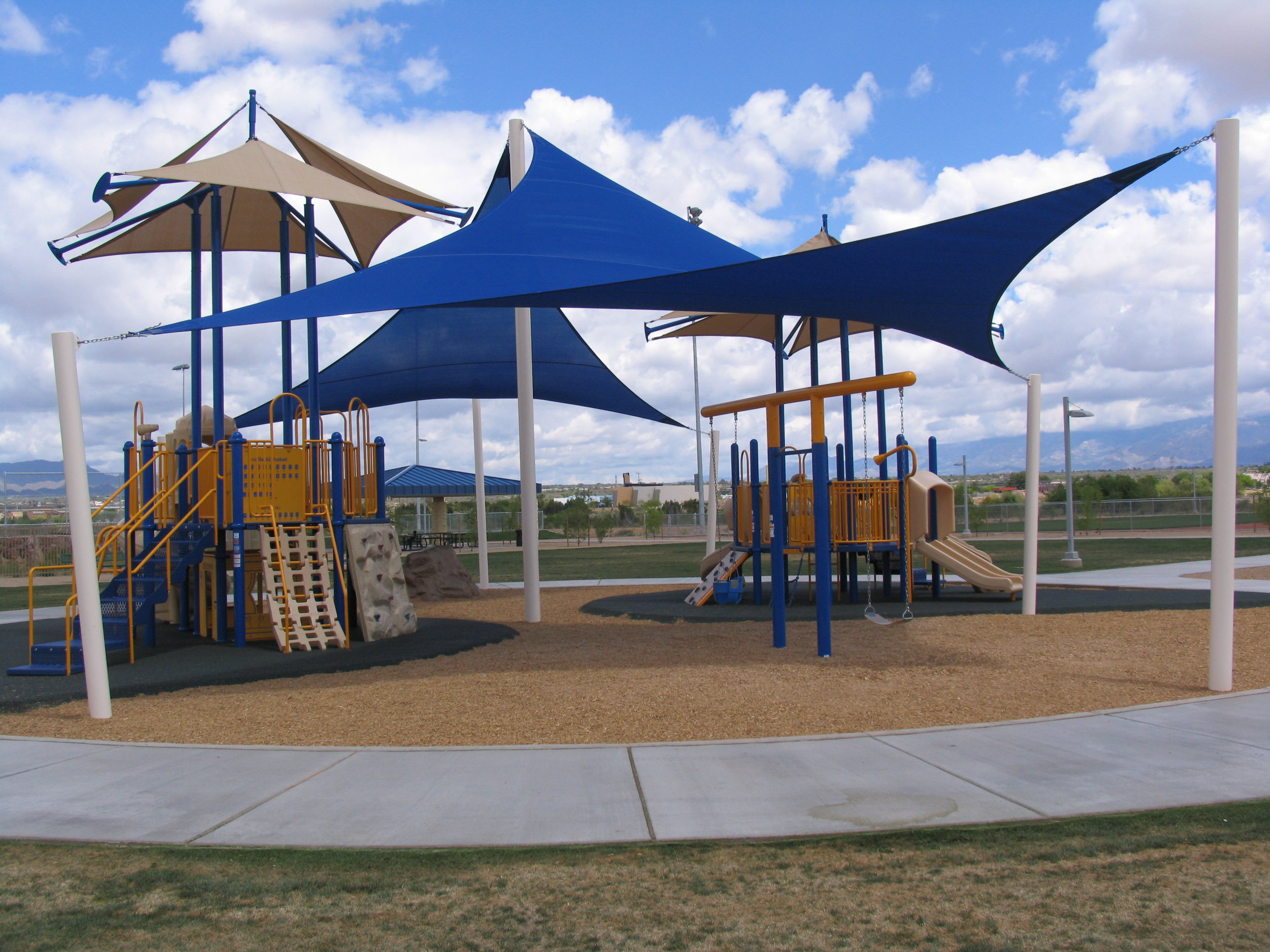 Playground at Crossroads at Silverbell District Park.