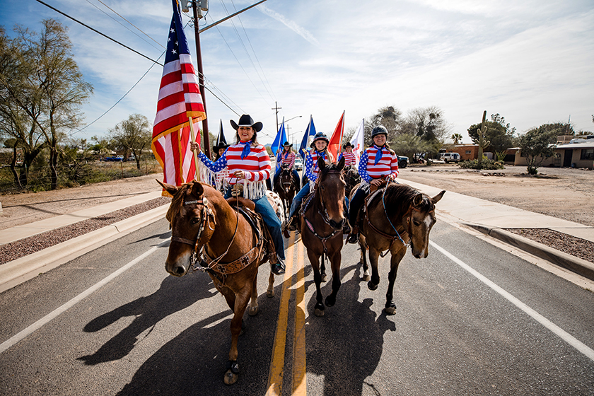 Horses in the Founders' Day Parade honor Marana's ranching tradition.