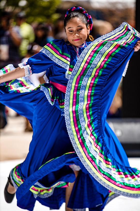 Folklorico dancers brought plenty of color.