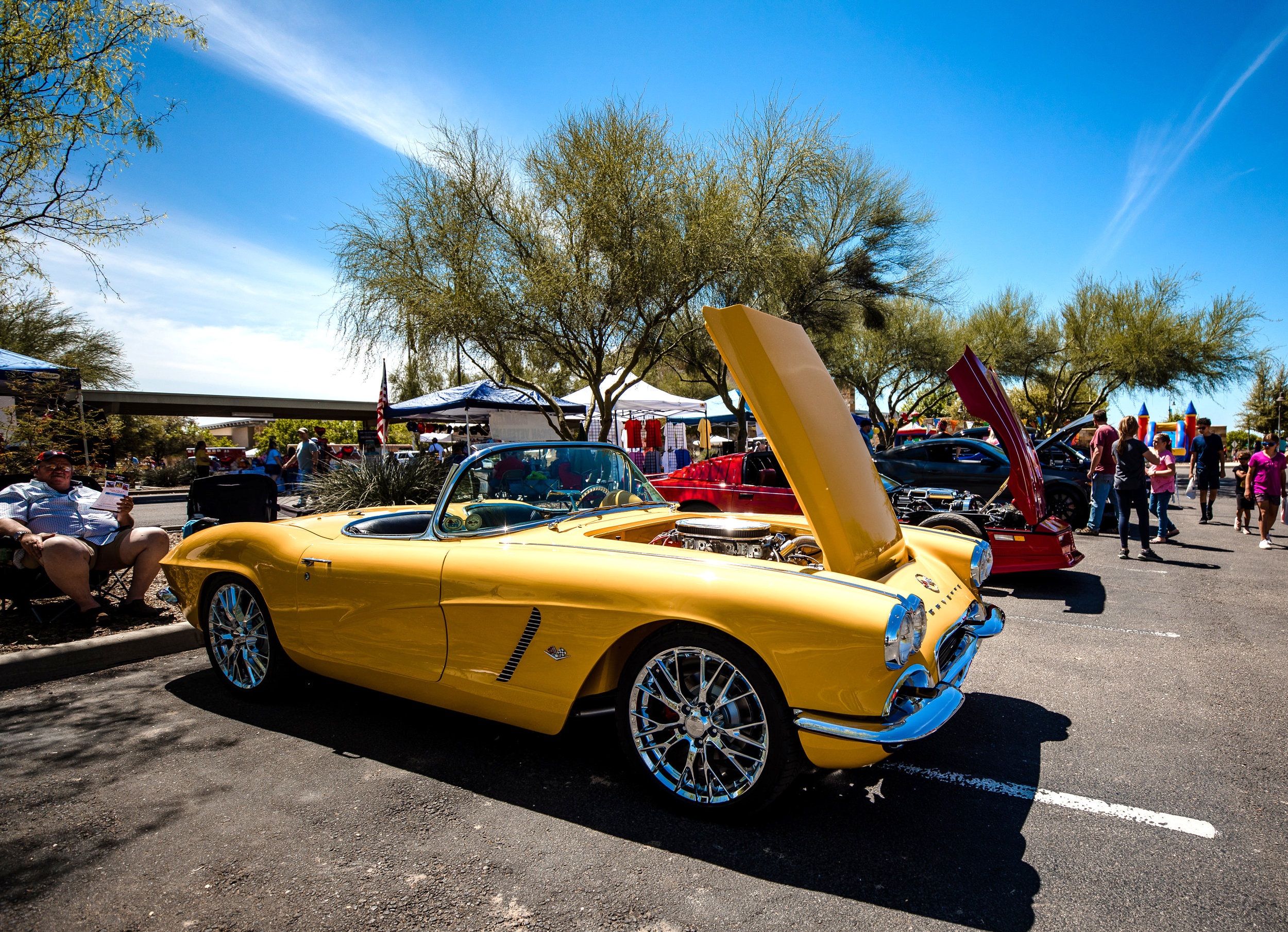This classic Corvette won Best of Show at the car show