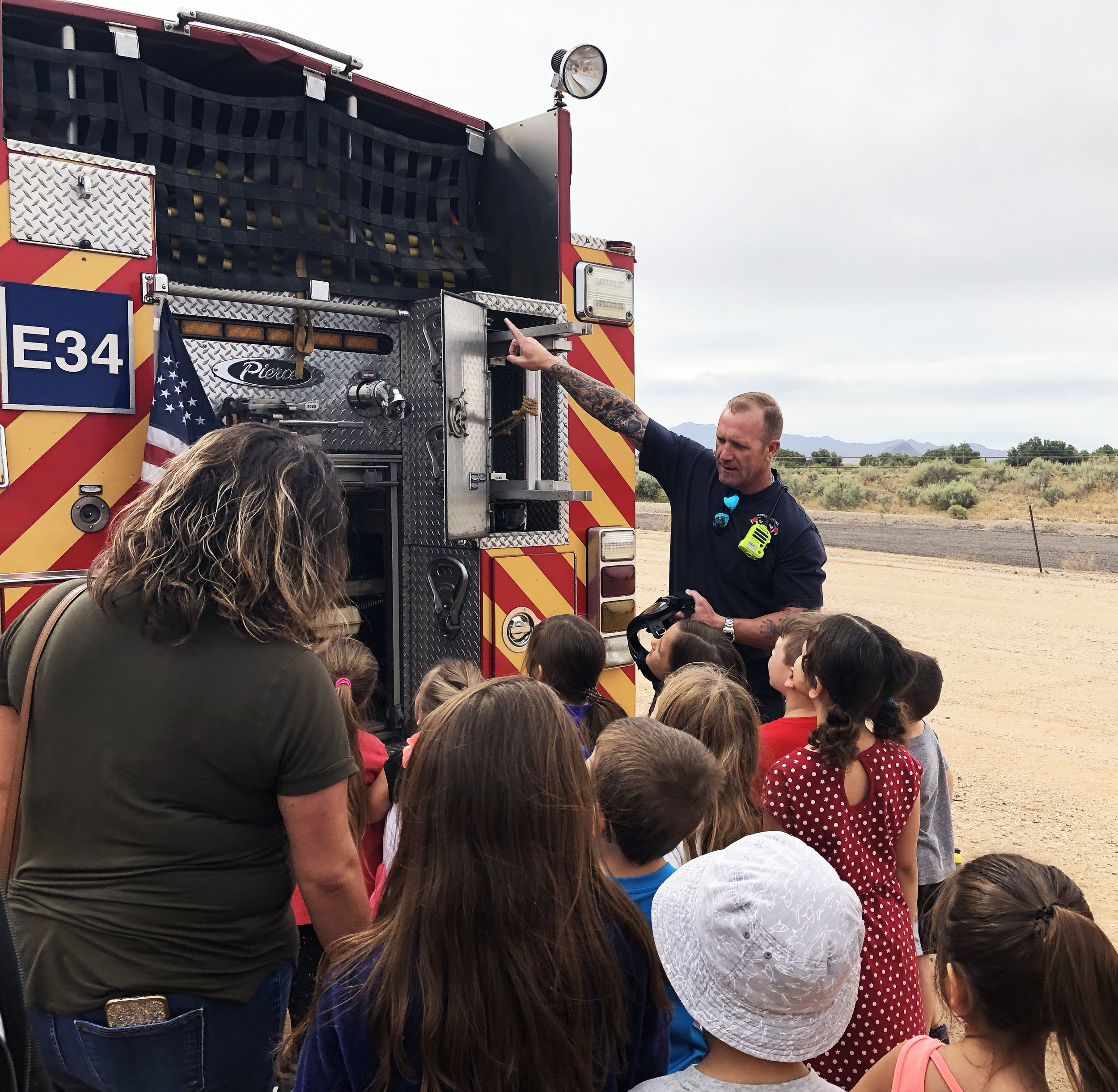 The firetrucks of Northwest Fire were among the most popular for the students to explore.