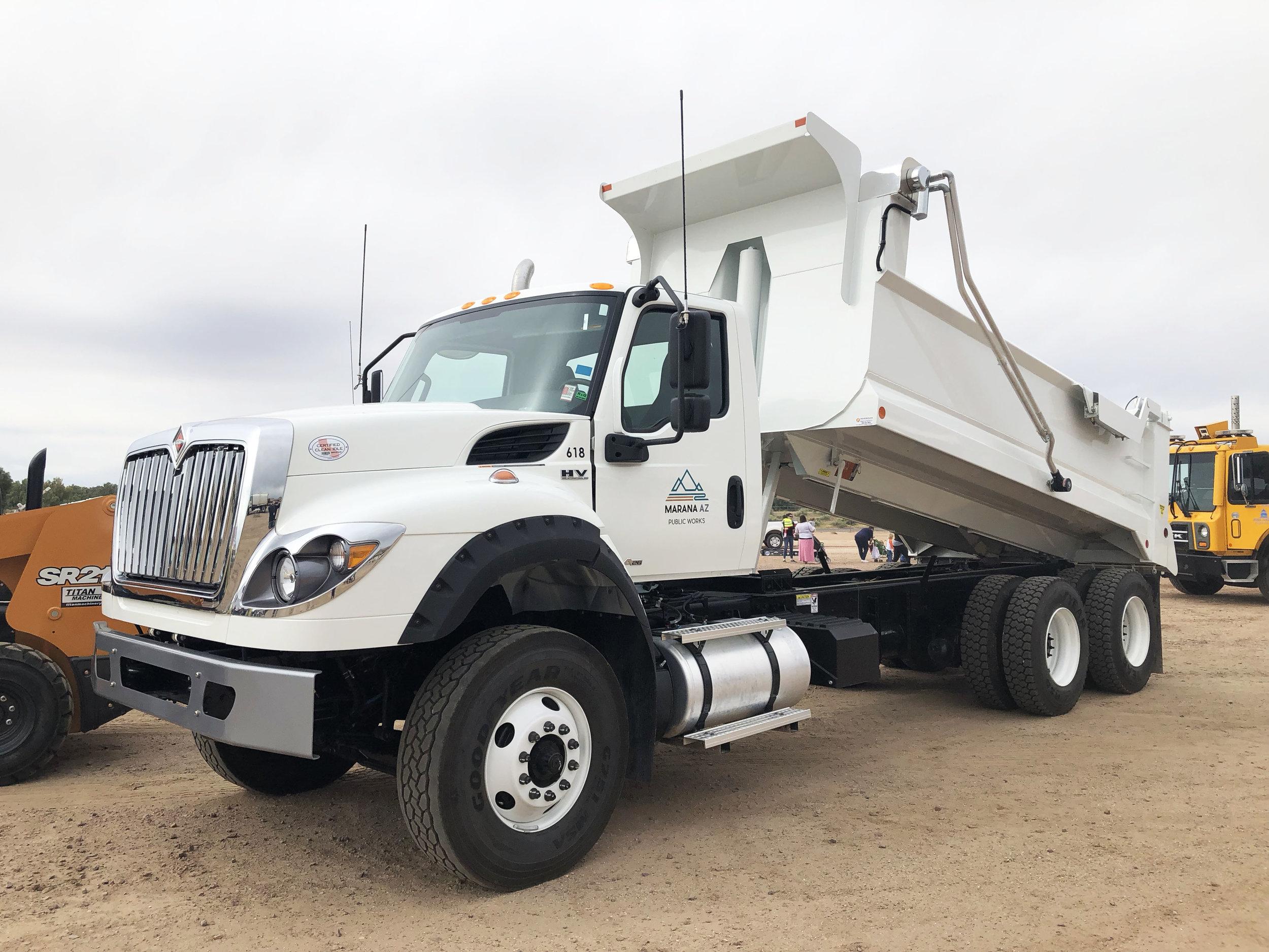 A dump truck.