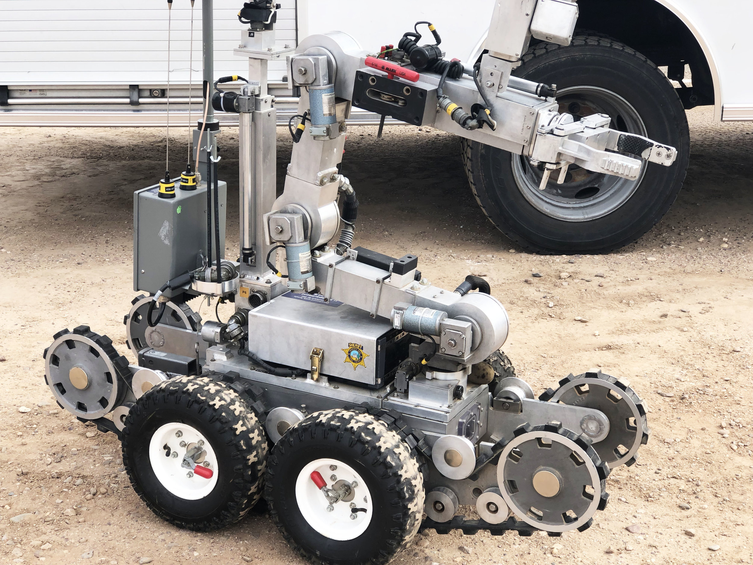The Pima County Bomb Squad had a few of their robots on display.
