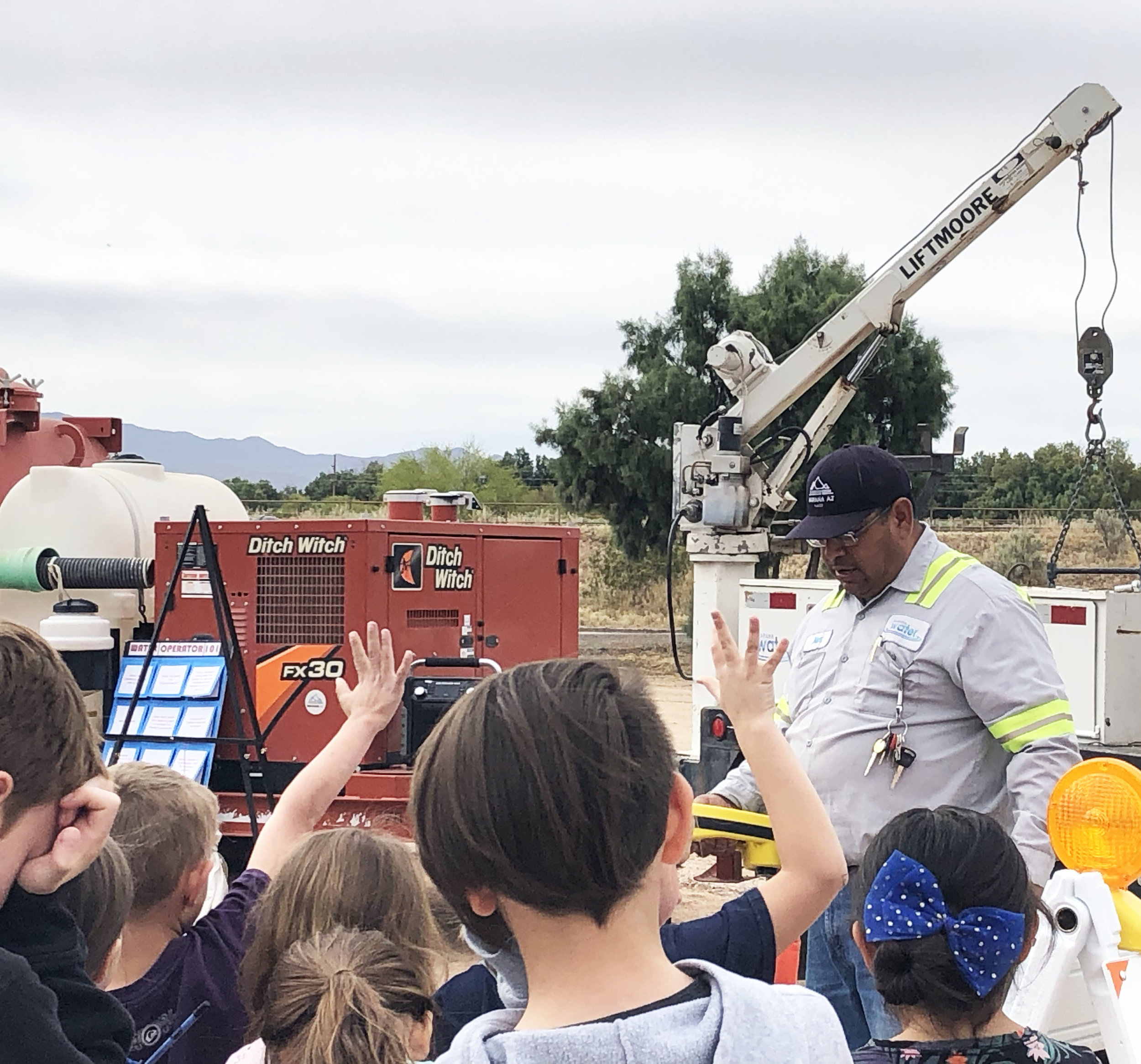 Marana Water was able to show off a lot of the tools they use every day to service Marana Water customers.