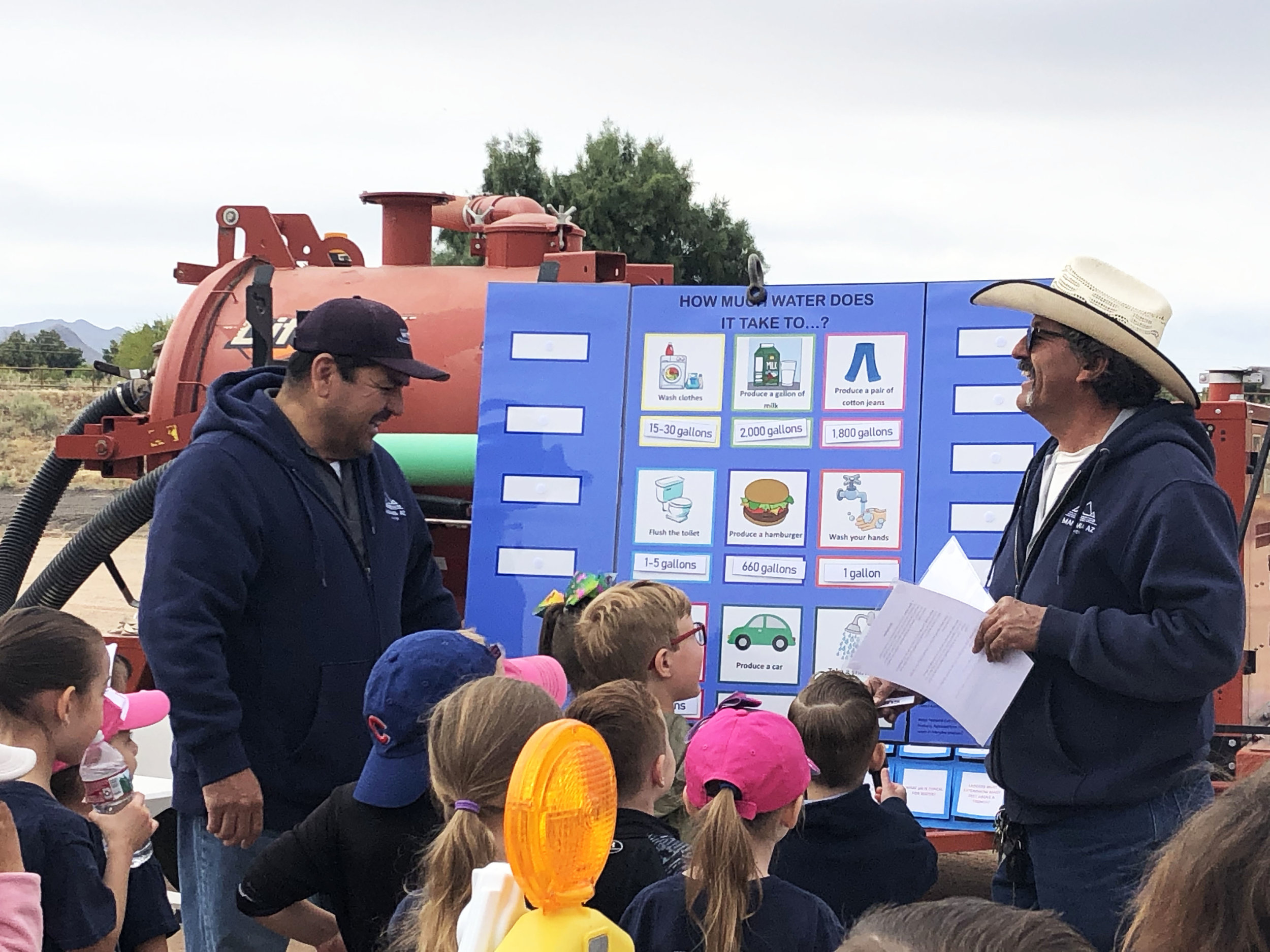 Marana Water employees educate students on the importance of water conservation.