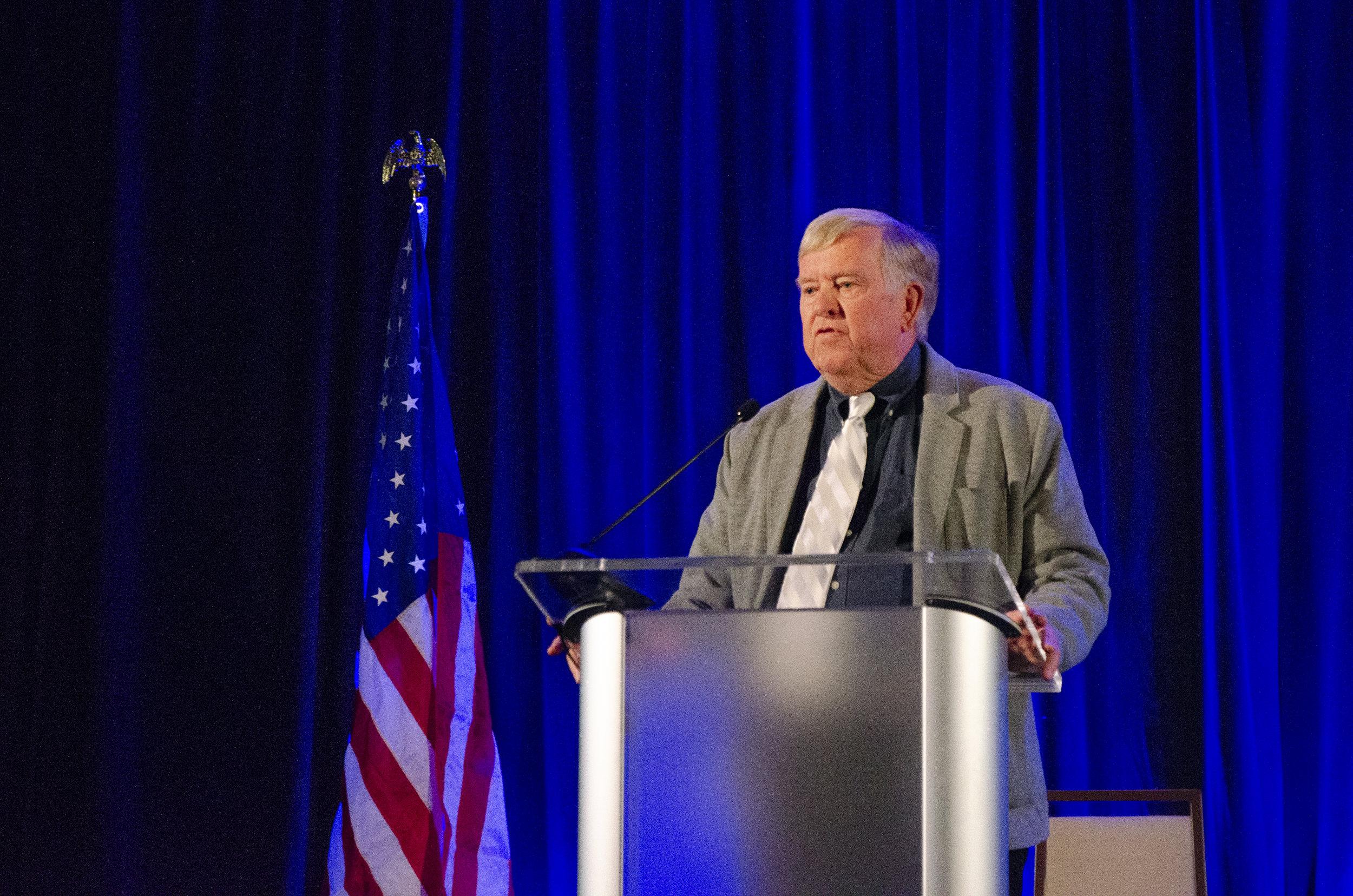 Mayor Ed Honea speaks at the 2019 Marana State of the Town held at the Ritz-Carlton, Dove Mountain.