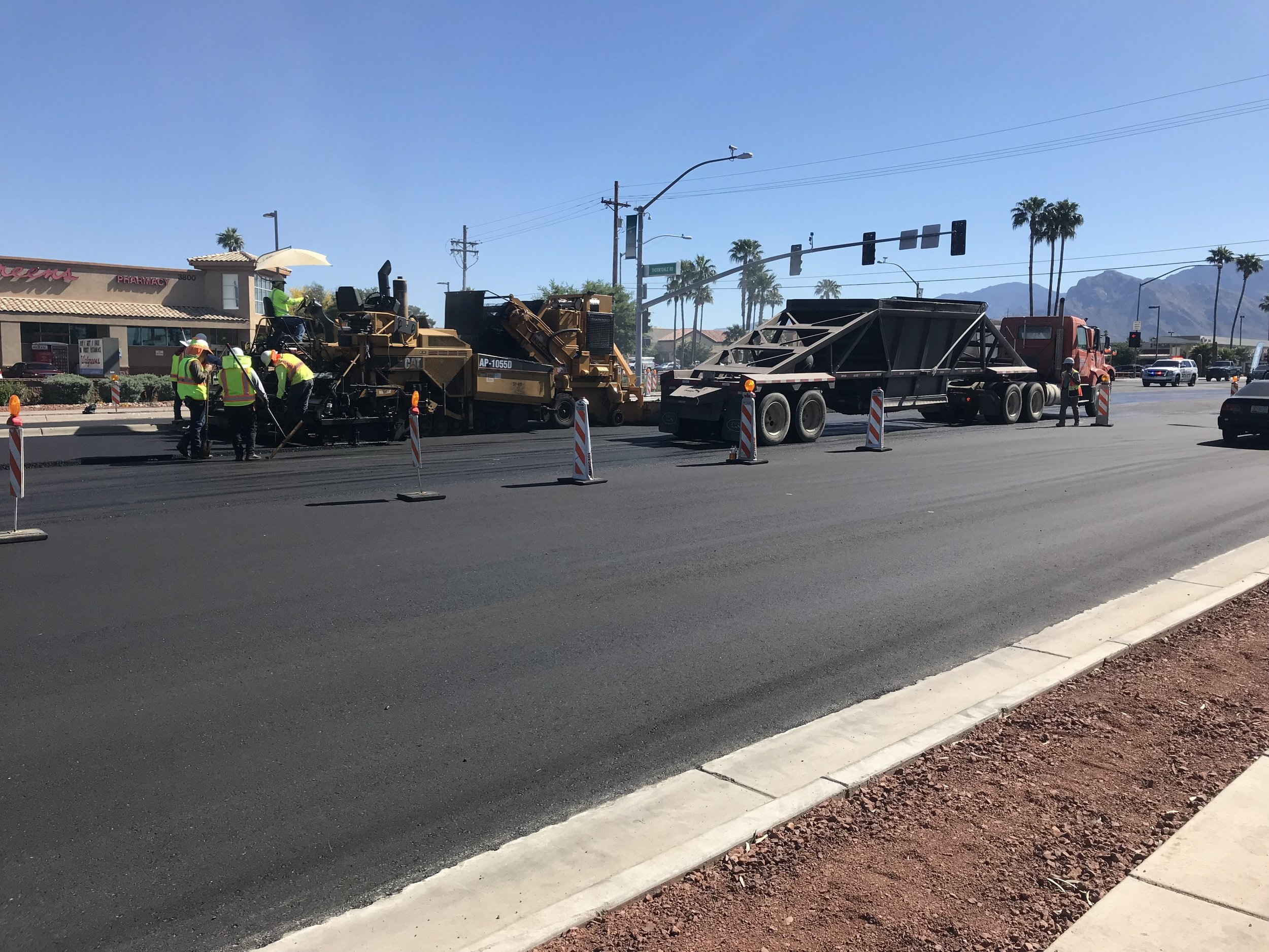 Paving is complete on Ina Road.