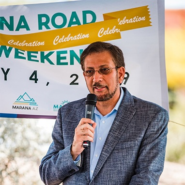 Marana Town Manager Jamsheed Mehta. Photo courtesy JD Fitzgerald.