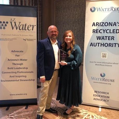 Amanda Jones accepted the award on behalf of Marana Water.