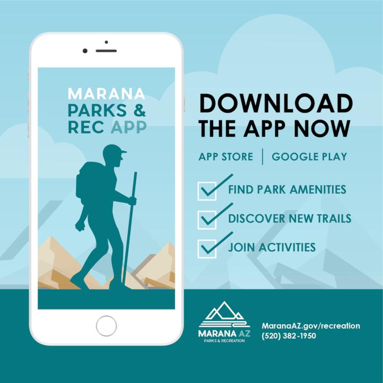 Marana Parks & Rec app graphic