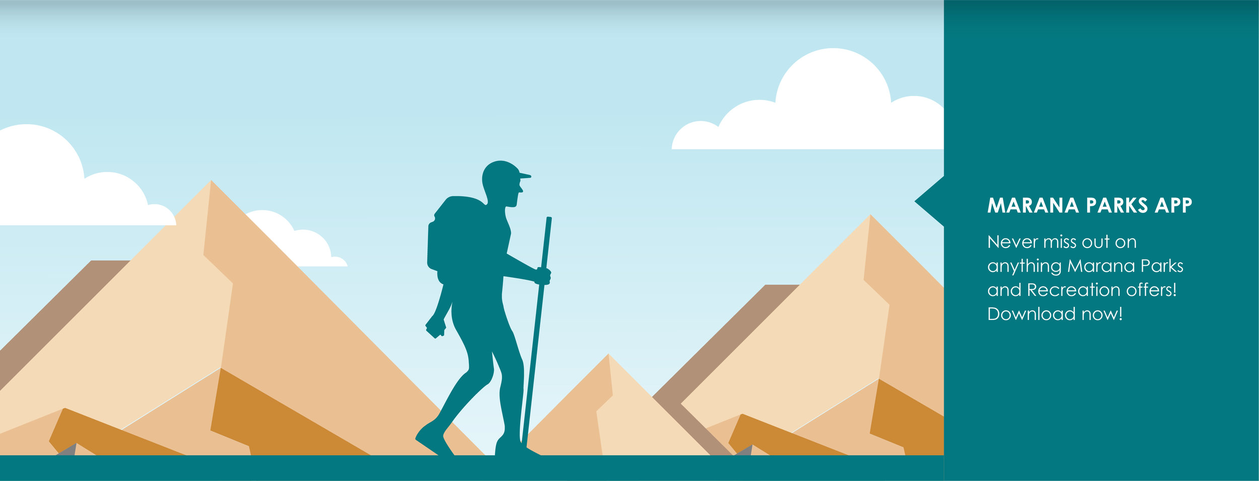 Hiking promotional banner