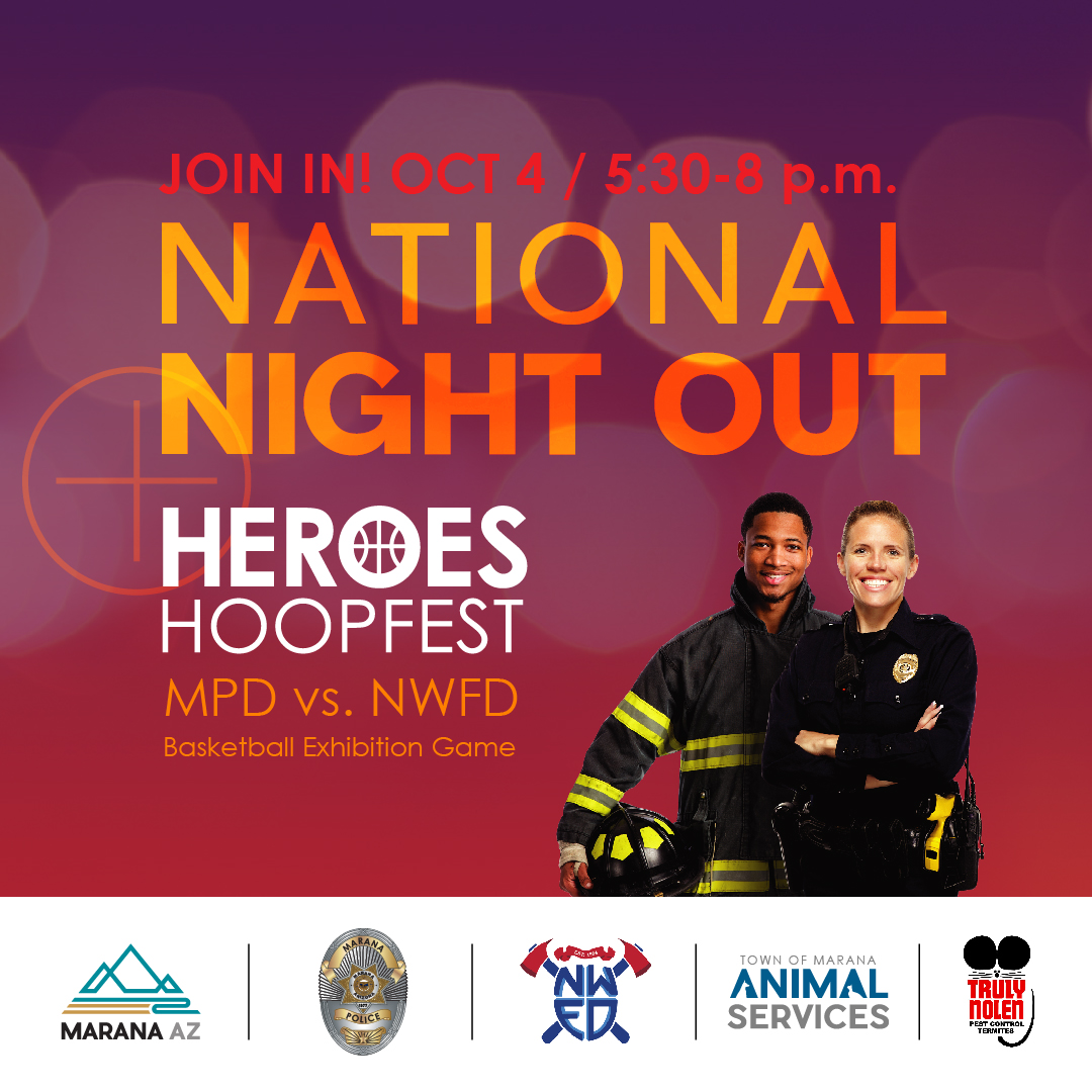 National Night Out Promotional Graphic 2019 Featuring Partner Logos