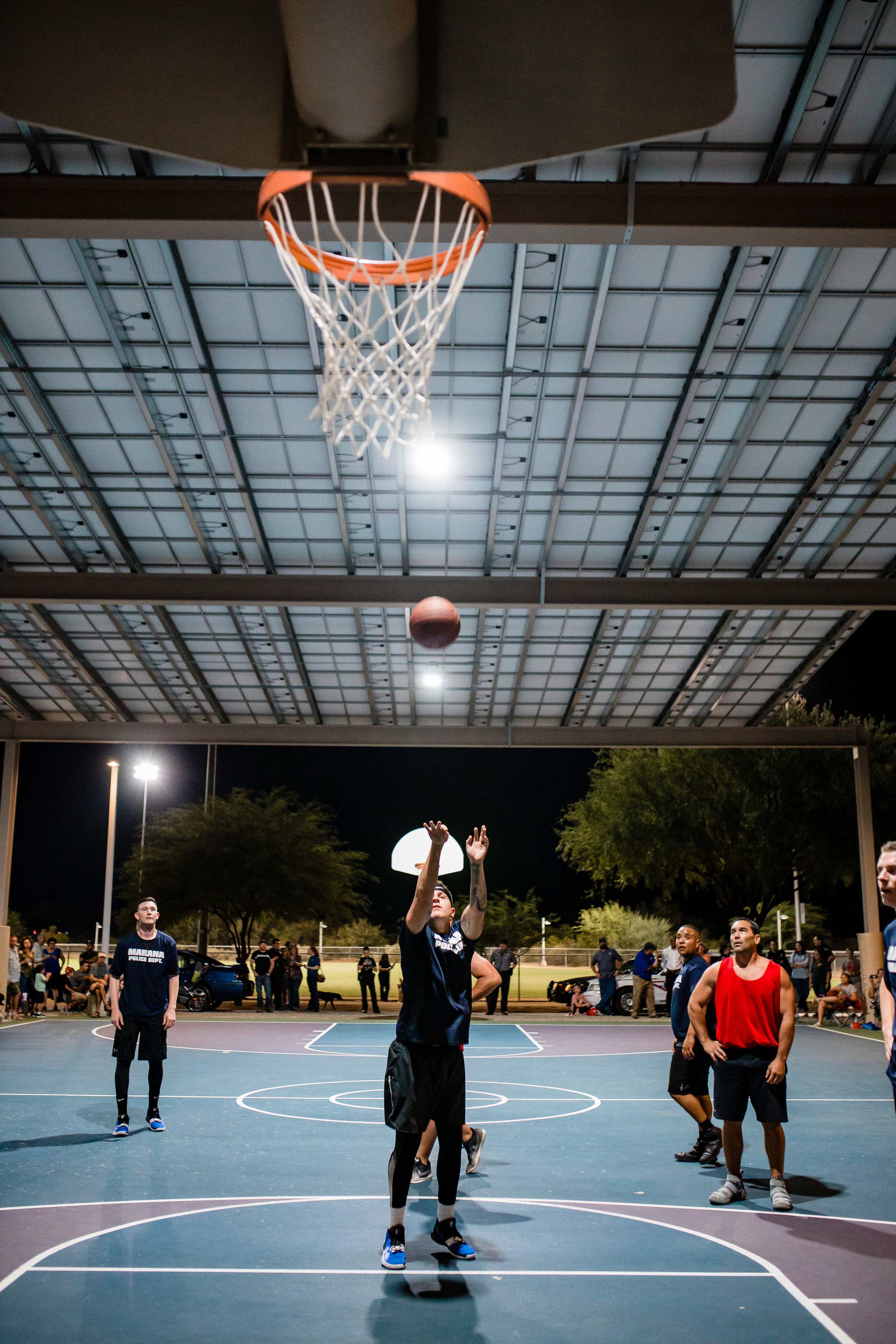 Marana Police Department shoots for the basket