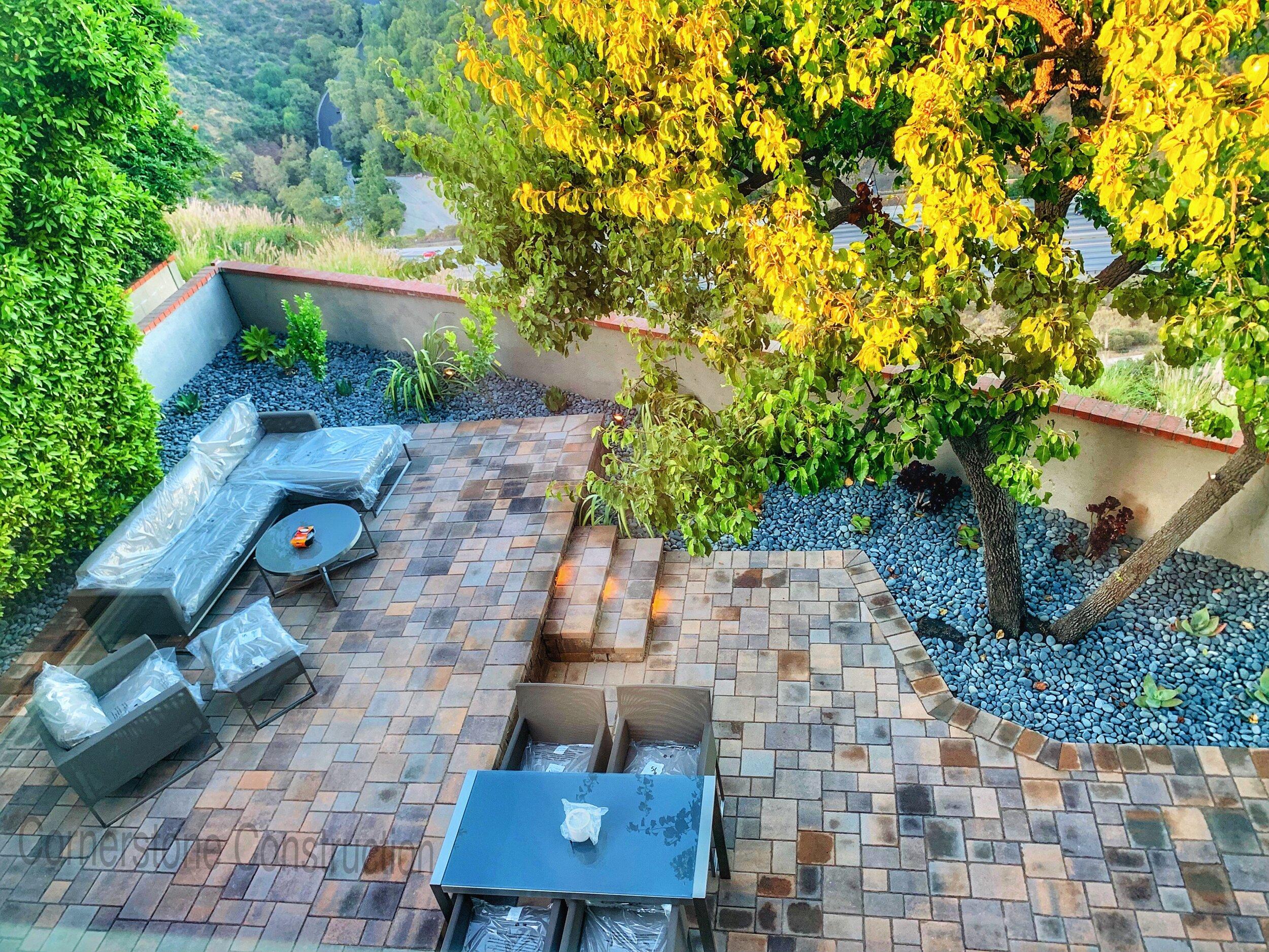 stone flooring backyard