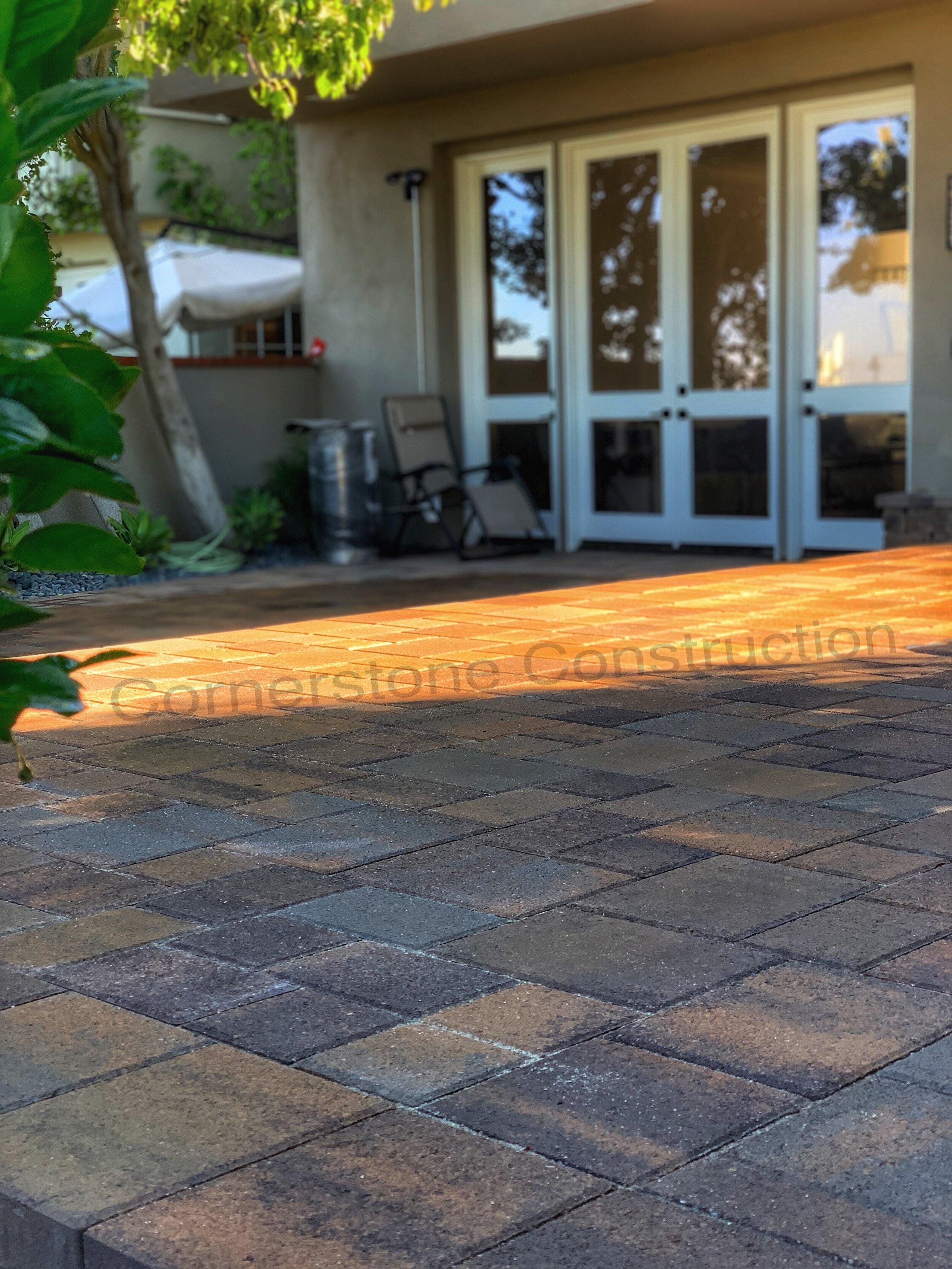 patterned stone in backyard