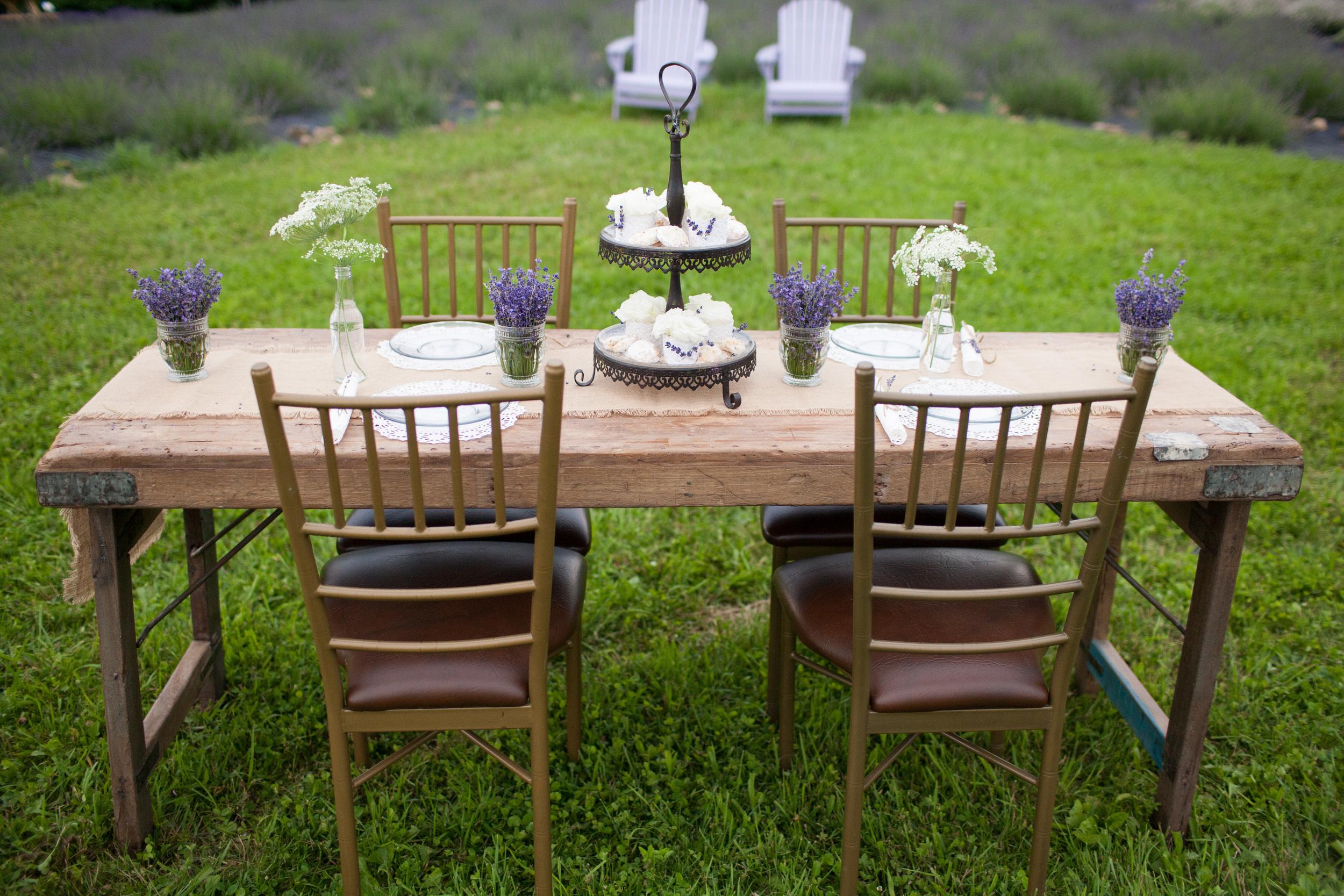 lavender farm table