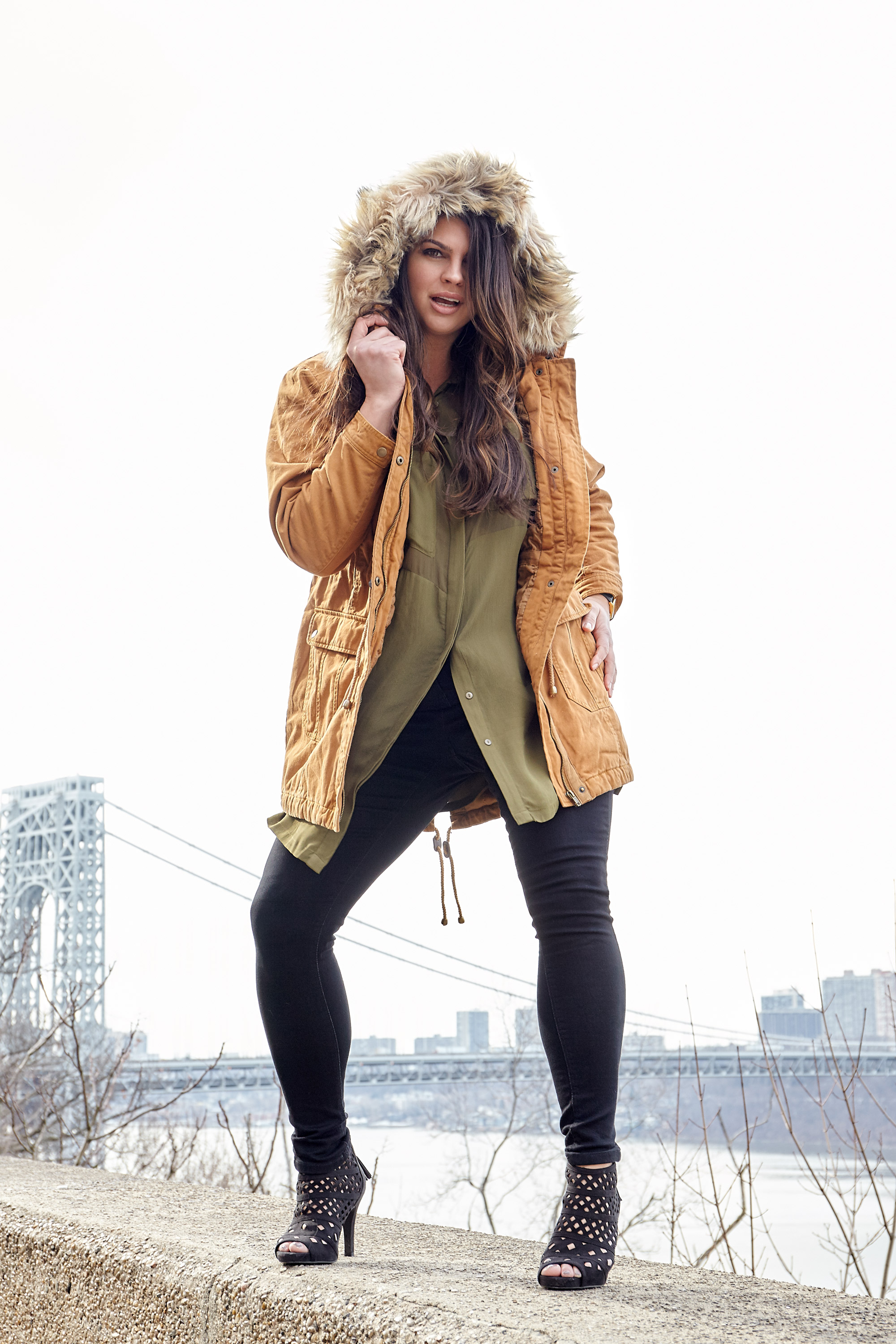 Parka ,  Blouse ,  Lucy Jean  by  Simply Be