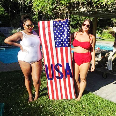 Me and    Shainna Tucker   of  @thickgrlscloset  rocking our 👙  bodies for Always for Me