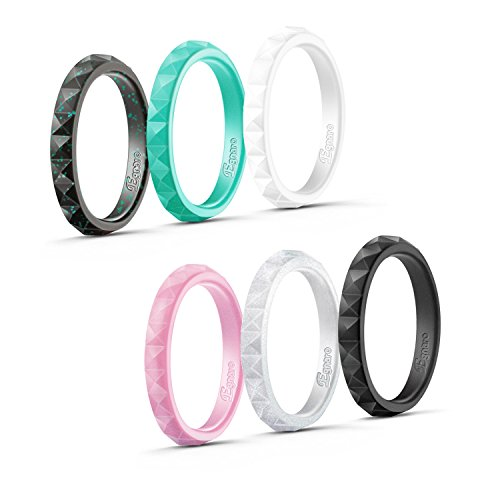 Silicone Wedding Bands - Mix & match for different looks!