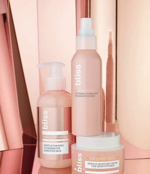 Bliss Rose Gold Rescue skincare available at  Target