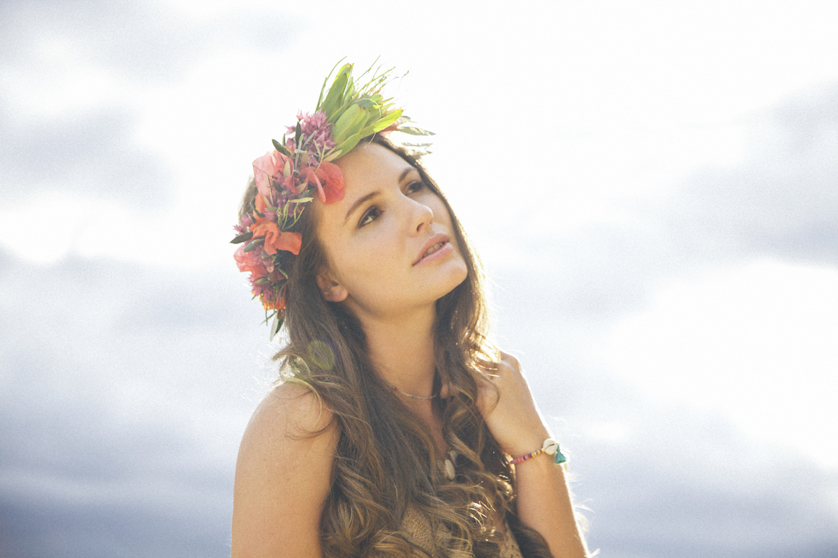 paiko tropical floral crown