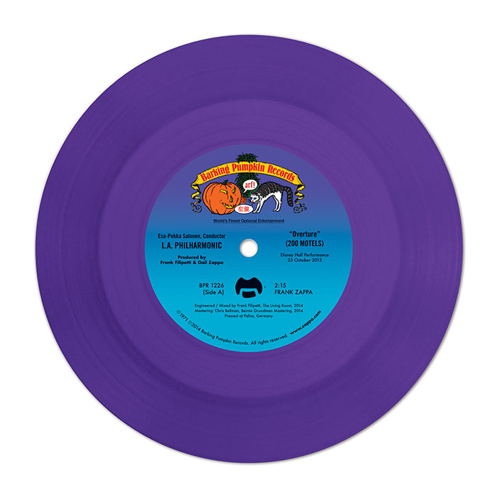 """Frank Zappa – Overture From """"200 Motels"""" (7"""" Coloured Vinyl)"""