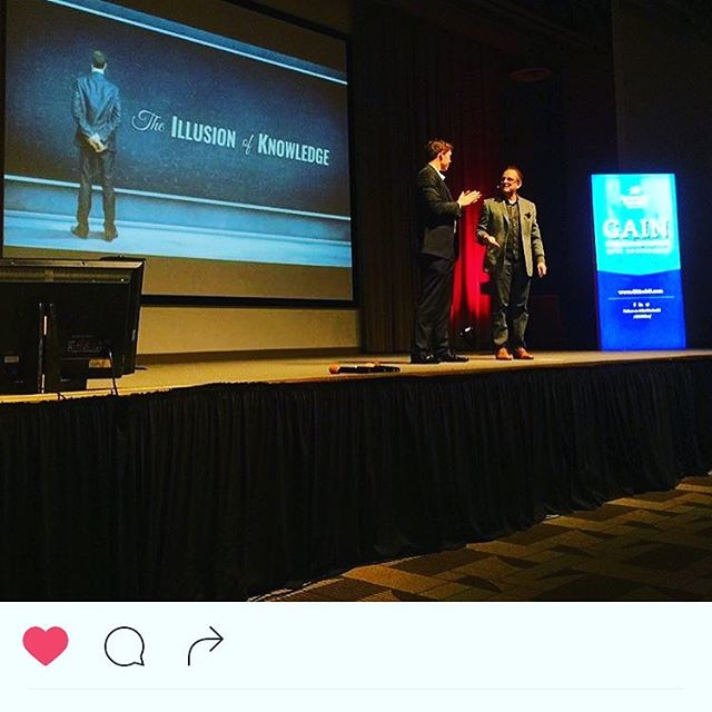 """Regram from @cdorobek, my """"Illusion of Knowlege"""" talk at #GAINconference"""