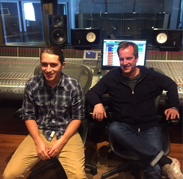 Christopher Bennion with ReverbNation'sChief Creative Officer and Head of A&R, Simon Perry