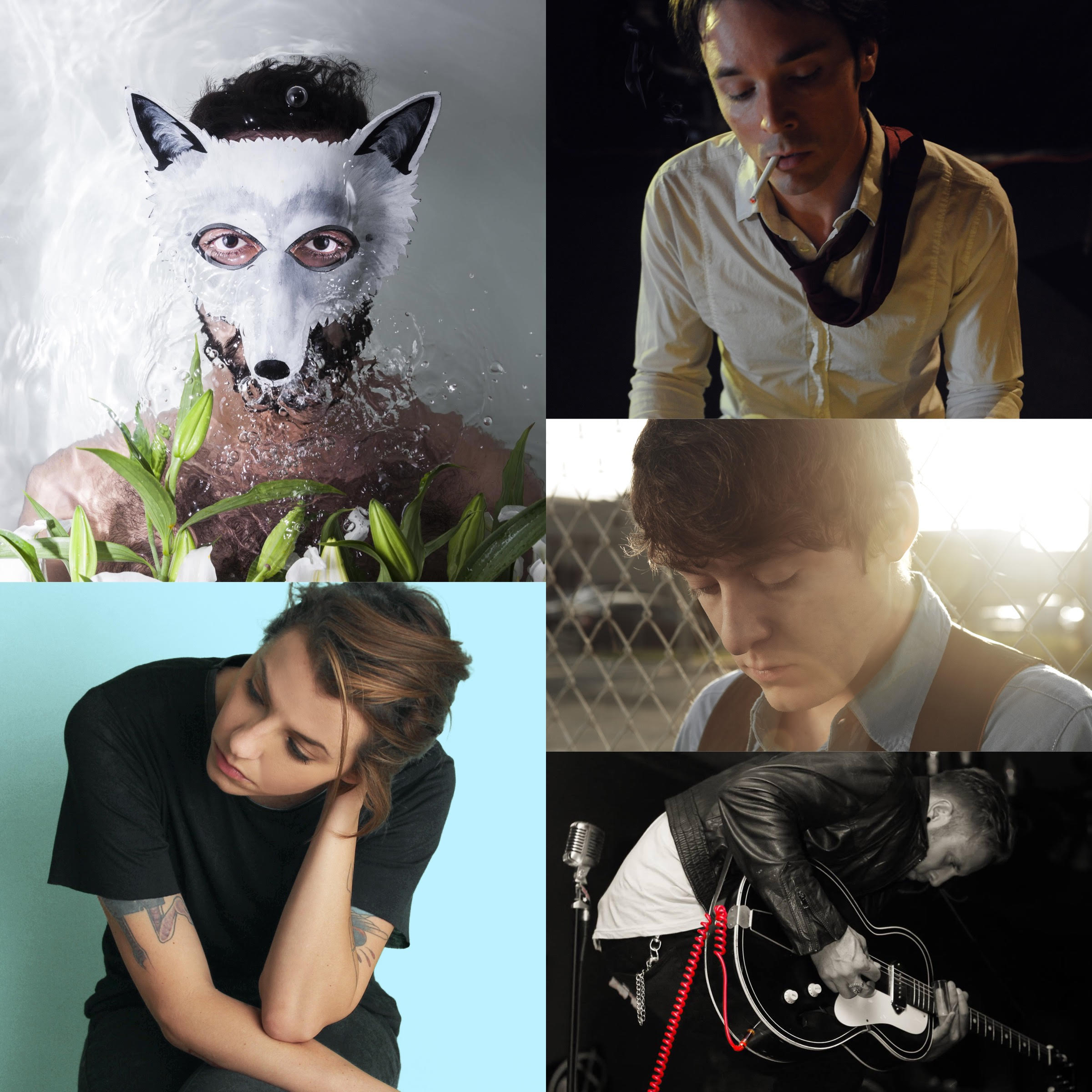Clockwise: Wolf Colony, KaiL Baxley, Jon Lindsday, Low Volts, Ellie Herring